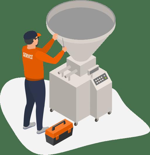 Prodej, montáž a servis potravinářských strojů